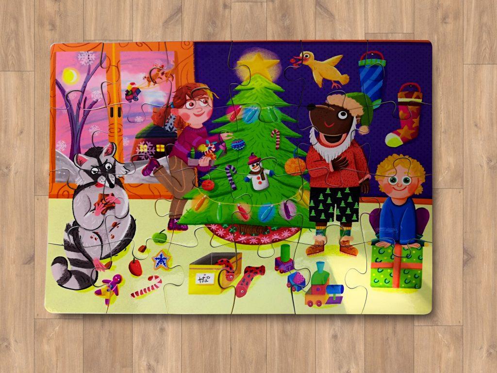 """Puzzle """"Navidad"""" de cartón"""